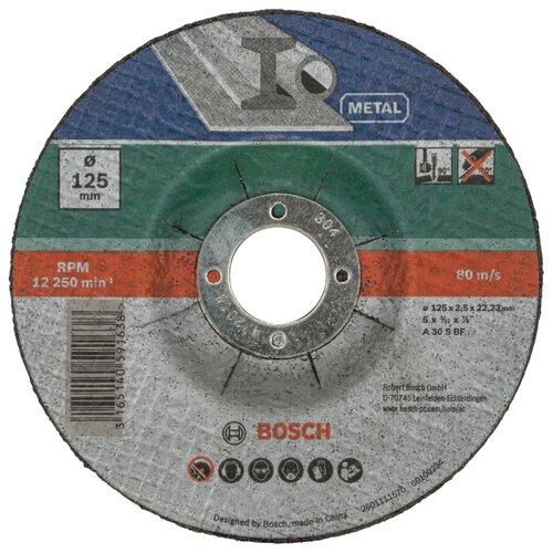 Диск отрезной 125x2.5x22.23 BOSCH A 30 S BF 2609256311 5 шт.Диски отрезные<br>
