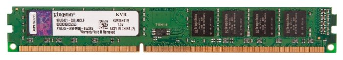 Модуль памяти Kingston DDR3 DIMM 1600MHz PC3-12800 - 8Gb KVR16N11/8