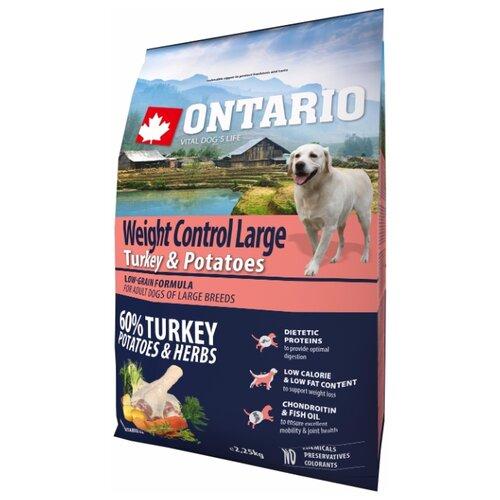 Корм для собак Ontario (2.25 кг) Weight Control Large Turkey & Potatoes 2.25 кг (для крупных пород)