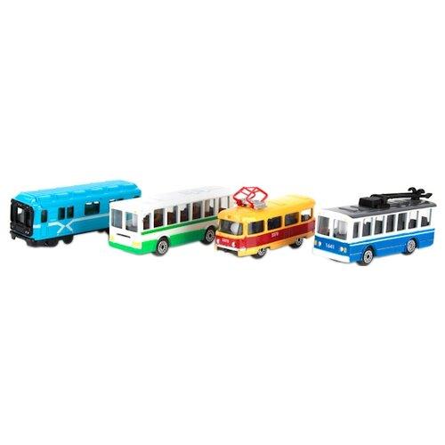 Купить Машинка ТЕХНОПАРК Городской транспорт в яйце (SB-15-28) 1:72, Машинки и техника