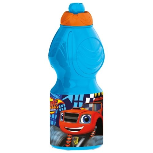 Бутылка для воды, для безалкогольных напитков Stor спортивная фигурная 0.4 пластик Вспыш и чудо-машинки