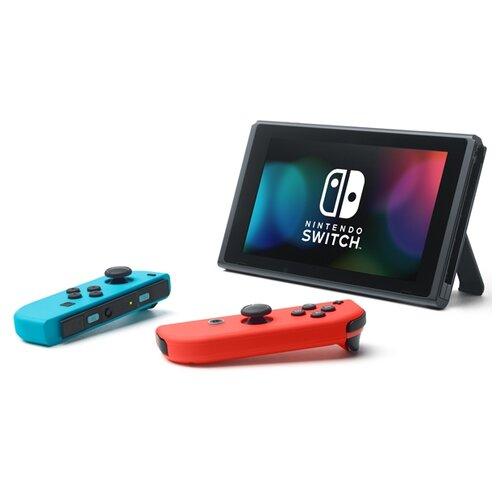 Игровая приставка Nintendo Switch красный/синий
