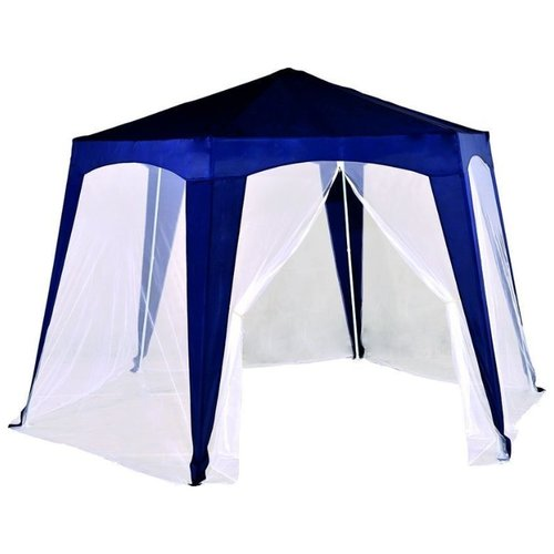 Фото - Шатер Green Glade 1006, со стенками и москитной сеткой синий / белый шатер green glade 1003 со стенками и москитной сеткой белый зеленый