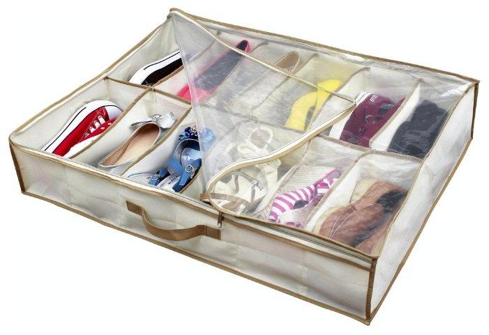 HAUSMANN Кофр для хранения обуви DV-201/DV-201P 74.5х60х15 см бежевый