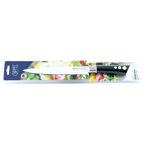 gipfel нож разделочный colombo 20 см коричневый GIPFEL Нож разделочный 8474 20 см серебристый/черный