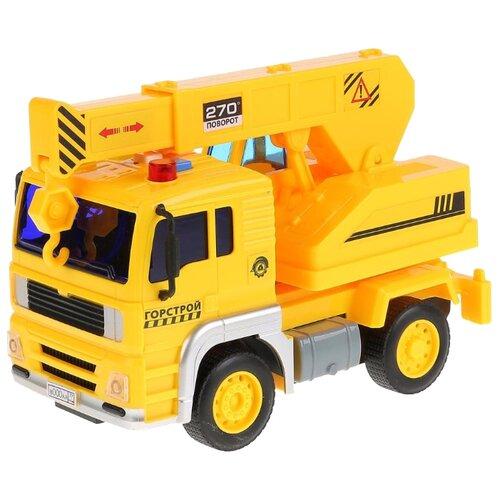 Купить Автокран ТЕХНОПАРК Горстрой (WY510D) 1:20 17 см желтый, Машинки и техника
