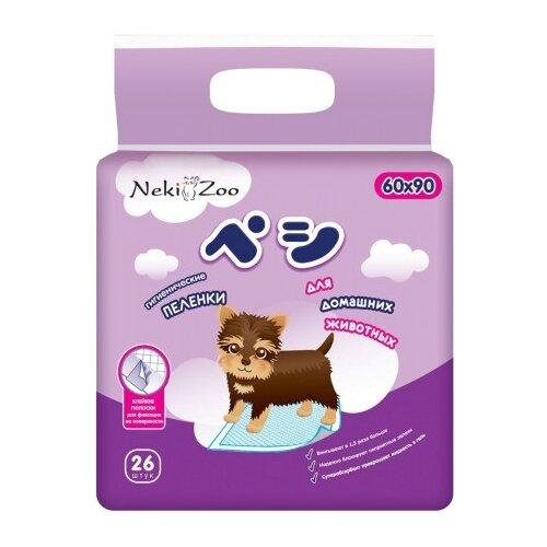 Пеленки для собак впитывающие Maneki NekiZoo 90х60 см 26 шт.