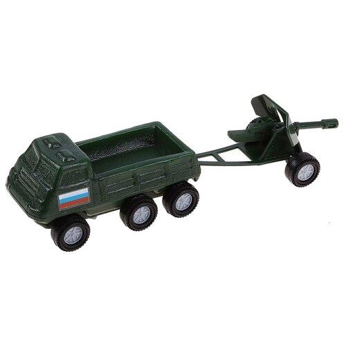 Купить Набор техники Форма Патриот Грузовик с пушкой (С-109-Ф) 21.5 см зеленый, Машинки и техника