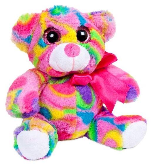 Мягкая игрушка Eatoy Медведь мультиколор 15 см