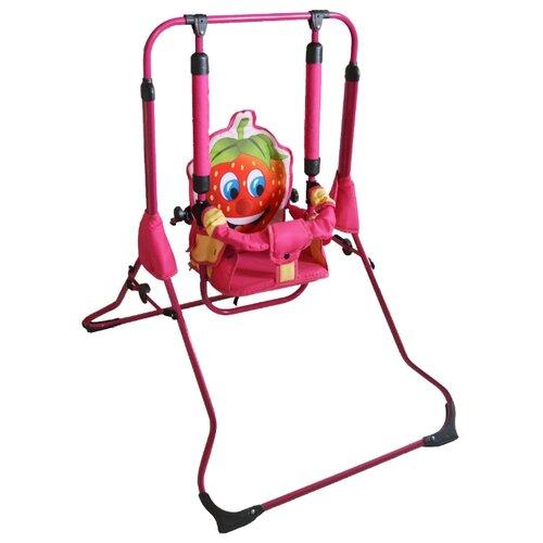 Gusio Качели детские Клубничка, розовая опораКачели<br>