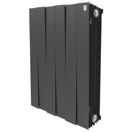 Радиатор секционный биметаллический Royal Thermo PianoForte 500 x8 теплоотдача 984 Вт, 8 секций, подключение универсальное боковое Noir Sable