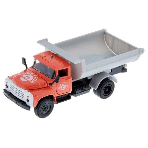 Купить Грузовик ТЕХНОПАРК ЗИЛ-130 Горстрой (CT11-271) 1:43 14 см оранжевый/серый, Машинки и техника