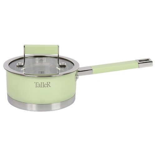 Ковш Taller Минт 1,5 л, серебристый/зеленый