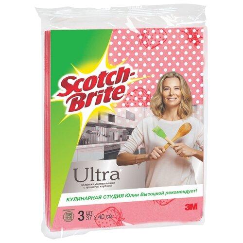 Набор универсальных салфеток с ароматом клубники Scotch-Brite GPW-STR 3 шт. розовыйТряпки, щетки, губки<br>