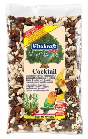Добавка в корм Vitakraft для попугаев VitaNature коктейль