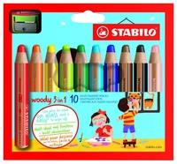 STABILO Цветные карандаши Woody 3 in 1 10 цветов (880/10-2)