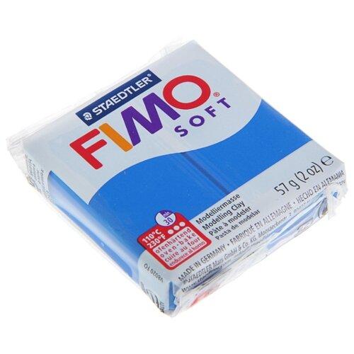 Купить Полимерная глина FIMO Soft запекаемая синий (8020-37), 57 г, Глина