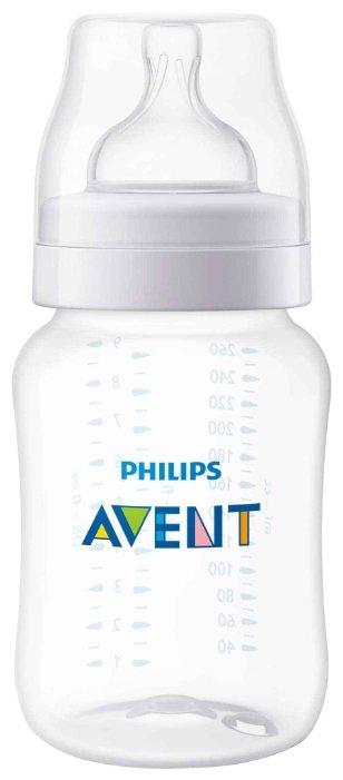 Philips AVENT Бутылочка полипропиленовая Classic+ SCF563/17, 260 мл с 1 мес.