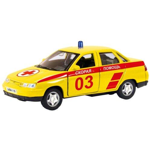 цена на Легковой автомобиль Autotime (Autogrand) Lada 110 скорая помощь (7863) 1:36 12 см желтый/красный