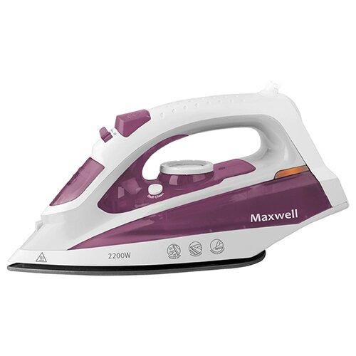 Утюг Maxwell MW-3058 белый/фиолетовый недорого