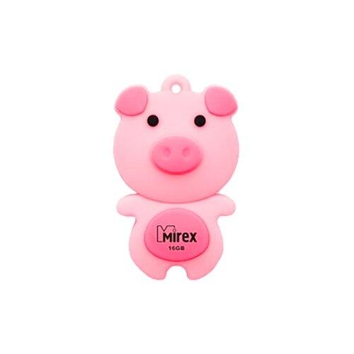 Фото - Флешка Mirex PIG 16 GB, розовый флешка mirex swivel 16 gb белый
