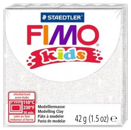 Полимерная глина FIMO Kids 42 г блестящий белый (8030-052)