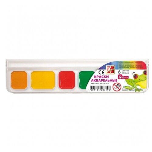 Купить Луч Акварельные краски Zoo 6 цветов, без кисти (19С 1248-08), Краски