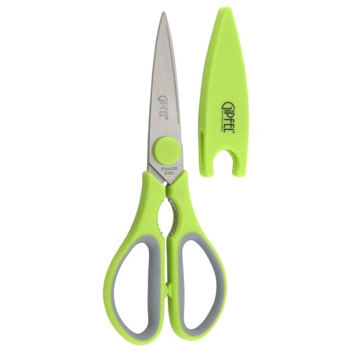 Ножницы GIPFEL Blossom 21 см зеленый/серый