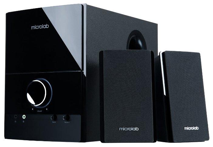 Компьютерная акустика 2.1 Microlab M-500 black, 2.1, 2 колонки+сабвуфер, 40W RMS