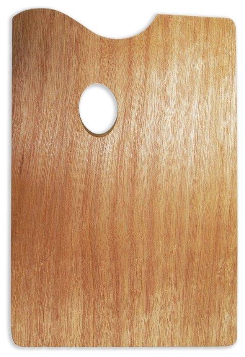 Палитра Малевичъ деревянная прямоугольная 20х30