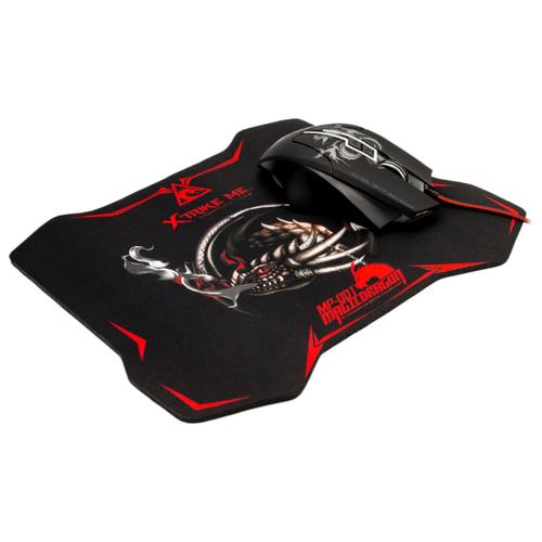 Мышь Xtrikeme GMP-501 Black USB + коврик