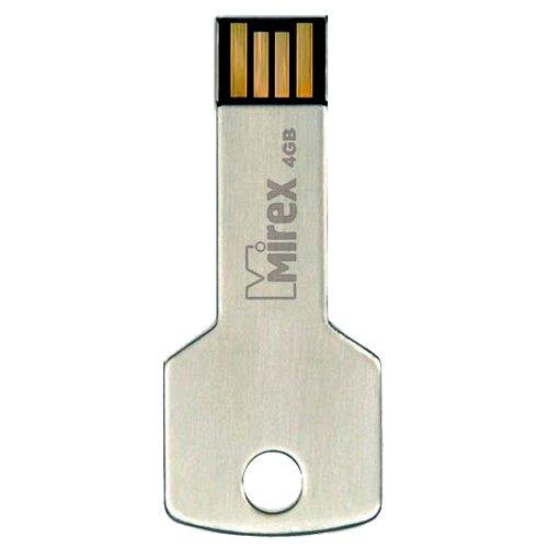 Фото - Флешка Mirex CORNER KEY 4 GB, стальной флешка mirex line 4 gb белый