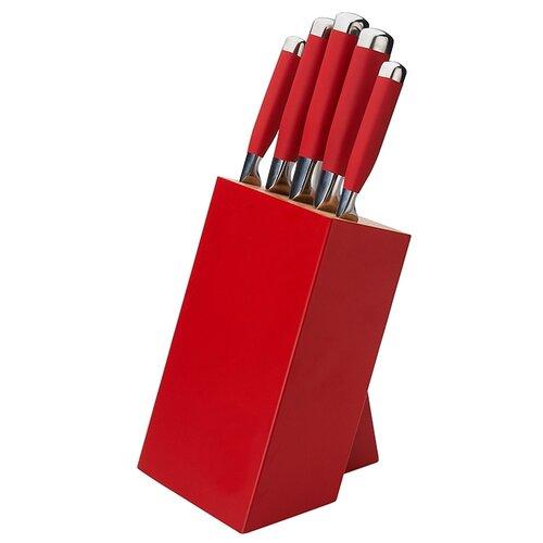 Набор GIPFEL Baron 6 ножей с подставкой 6665 стальной/красный spirella ерш с подставкой sydney acrylic красный акрил красный nuyofsw