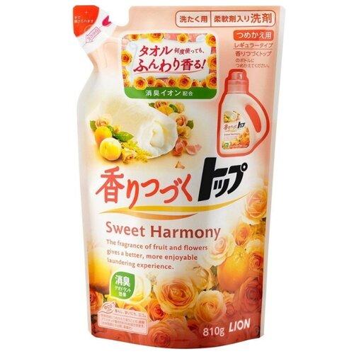 Жидкость Lion Top Sweet Harmony аромат цветов и апельсина (Япония), 0.81 л, пакет
