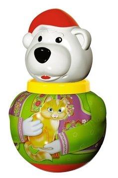 Неваляшка Стеллар Белый медведь Борис, упаковка пакет (01737) 18 см
