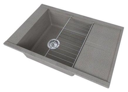 Врезная кухонная мойка АКВАТОН Делия 78х51см искусственный мрамор