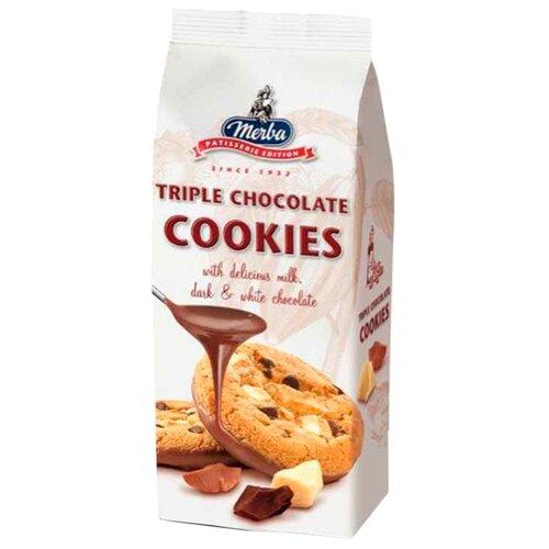 Печенье Merba Три шоколада, 200 г