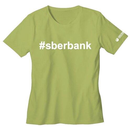 Футболка детская #sberbank размер 98/28, зеленаяОдежда и аксессуары<br>