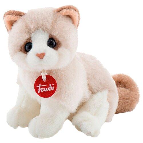 Мягкая игрушка Trudi Котёнок Брэд бежево-белый 24 см мягкая игрушка trudi котёнок брэд