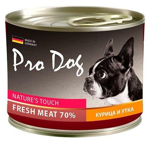 Корм для собак Pro Dog Для собак курица и утка консервы (0.2 кг) 1 шт.