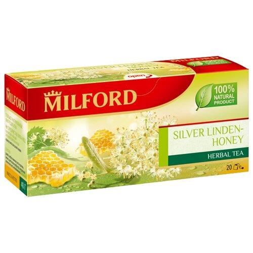 Чайный напиток травяной Milford Silver linden-honey в пакетиках, 20 шт.