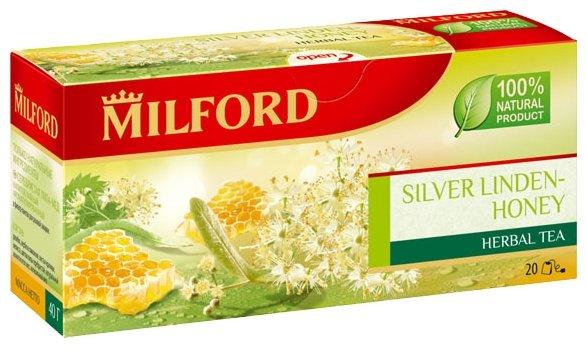 Чайный напиток травяной Milford Silver linden-honey в пакетиках
