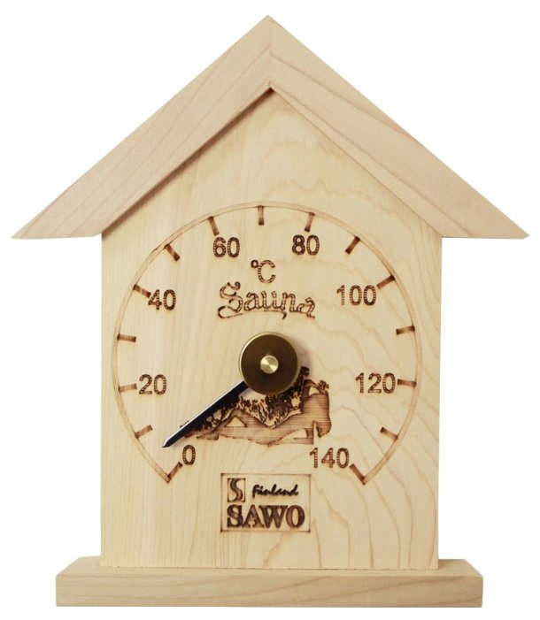 Термометр для сауны Sawo 115-ТР в форме домика, материал: сосна, Sawo (Саво)