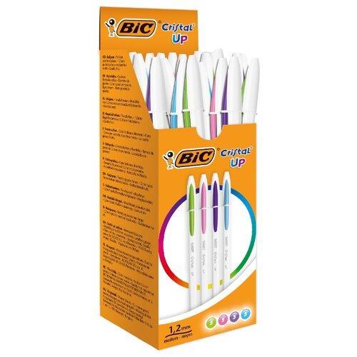 BIC Набор шариковых ручек Cristal UP, 1,2 мм (950446/949879/949880), разноцветный цвет чернил