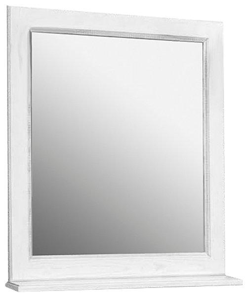 Зеркало с полочкой Акватон Жерона 85 1A158702GEM20 белое серебро