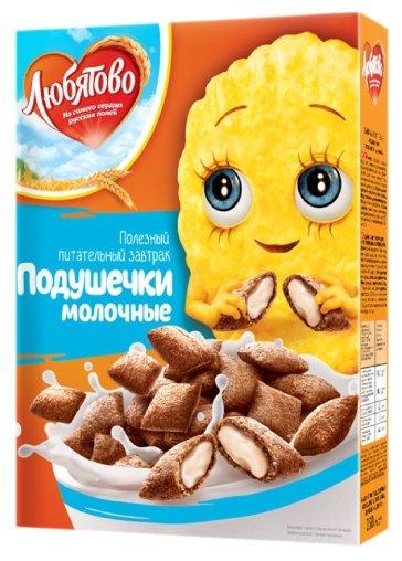 Готовый завтрак Любятово Подушечки молочные, коробка