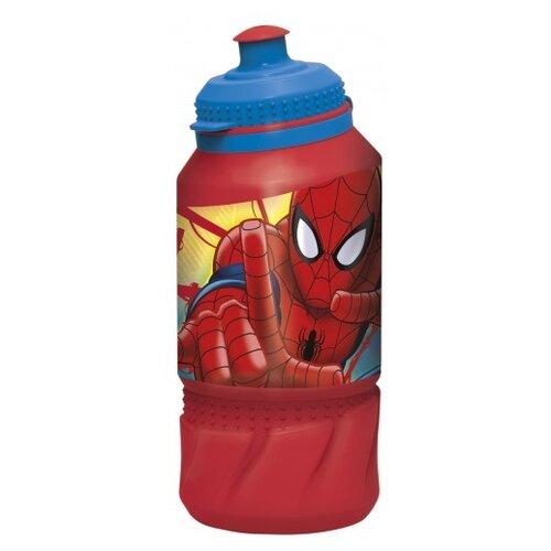 Бутылка для воды, для безалкогольных напитков Stor спортивная 0.42 пластик Человек-паук Красная паутина
