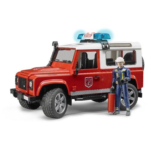 Фото - Пожарный автомобиль Bruder Внедорожник Land Rover Defender Station Wagon (02-596) 1:16 28 см красный внедорожник bruder jeep cross counrty racer 02 541 29 см голубой