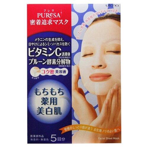 Utena листовая маска Puresa с витамином C, 15 мл, 5 шт.
