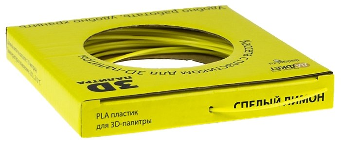 PLA пруток Даджет 1.75 мм жёлтый